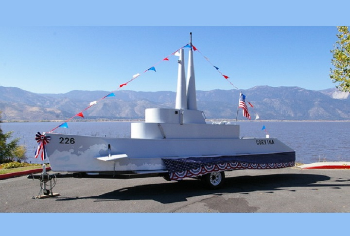 <p>Unveiling Ceremony for the USS Corvina Submarine Model</p>