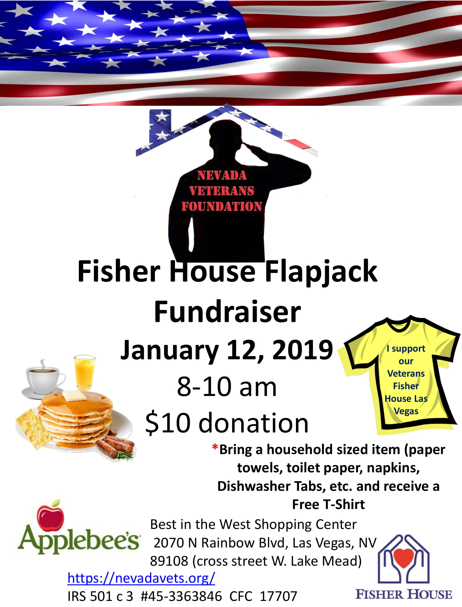 Fisher House Flapjack Fundraiser - Benefiting Nevada
