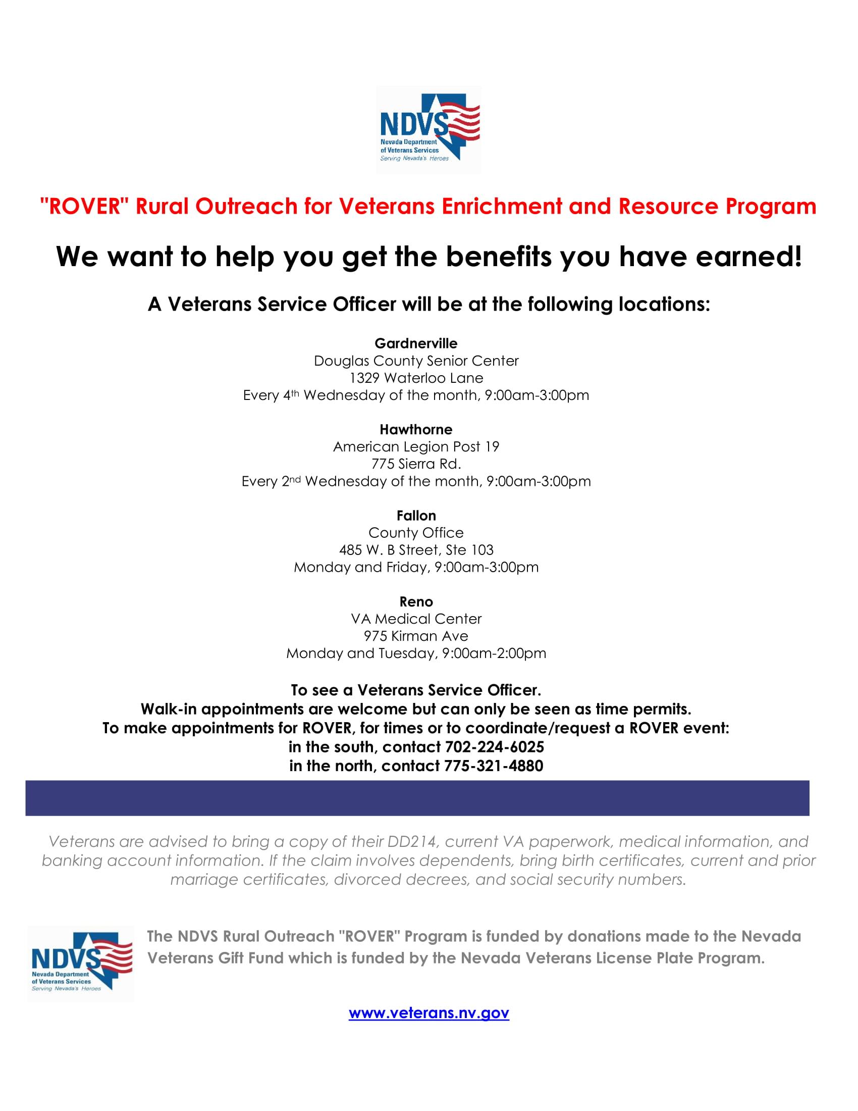Reno Events Calendar February 2020 Reno VA ROVER (North)   Nevada Department of Veterans Services