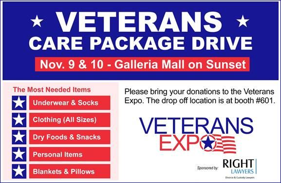 Veterans Care Package Drive - Las Vegas - Nevada Department