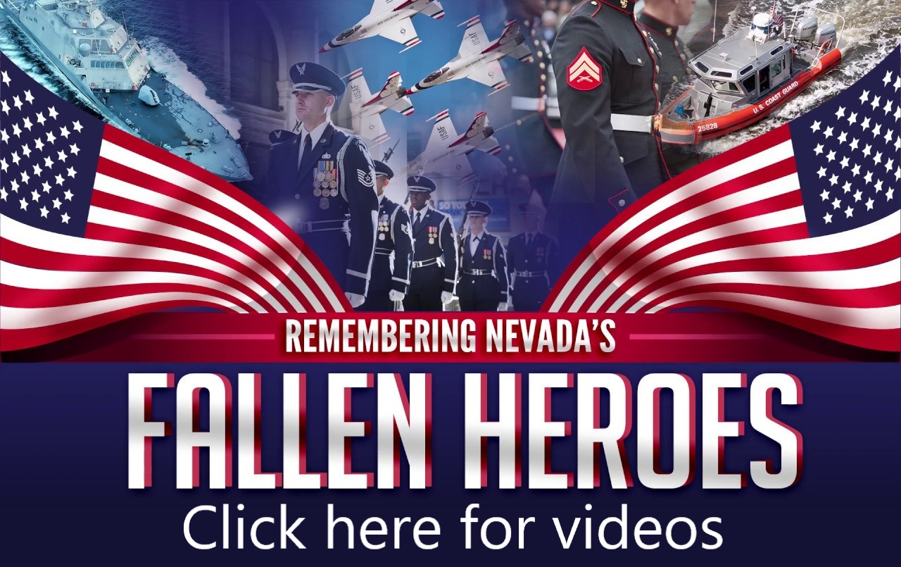 <p>The State of Nevada is committed to observing Memorial Day 2020 in a manner that honors those who served and sacrificed for our Nation while protecting the health and safety of visitors and our staff.<br /> Join with Nevadans across the state in honoring those who served and sacrificed for our nation by participating in one of our virtual ceremonies.  Click to view the ceremonies.</p>