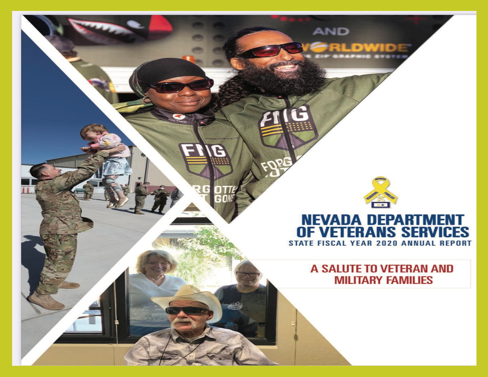 <p>The theme of the NDVS 2020 Annual Report is a salute to veteran and military families. </p>