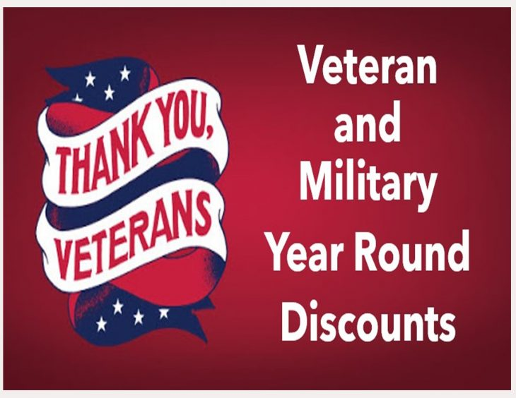 <p>The following list of Veteran and military discounts are good all year round and will be updated as we learn of more. </p>