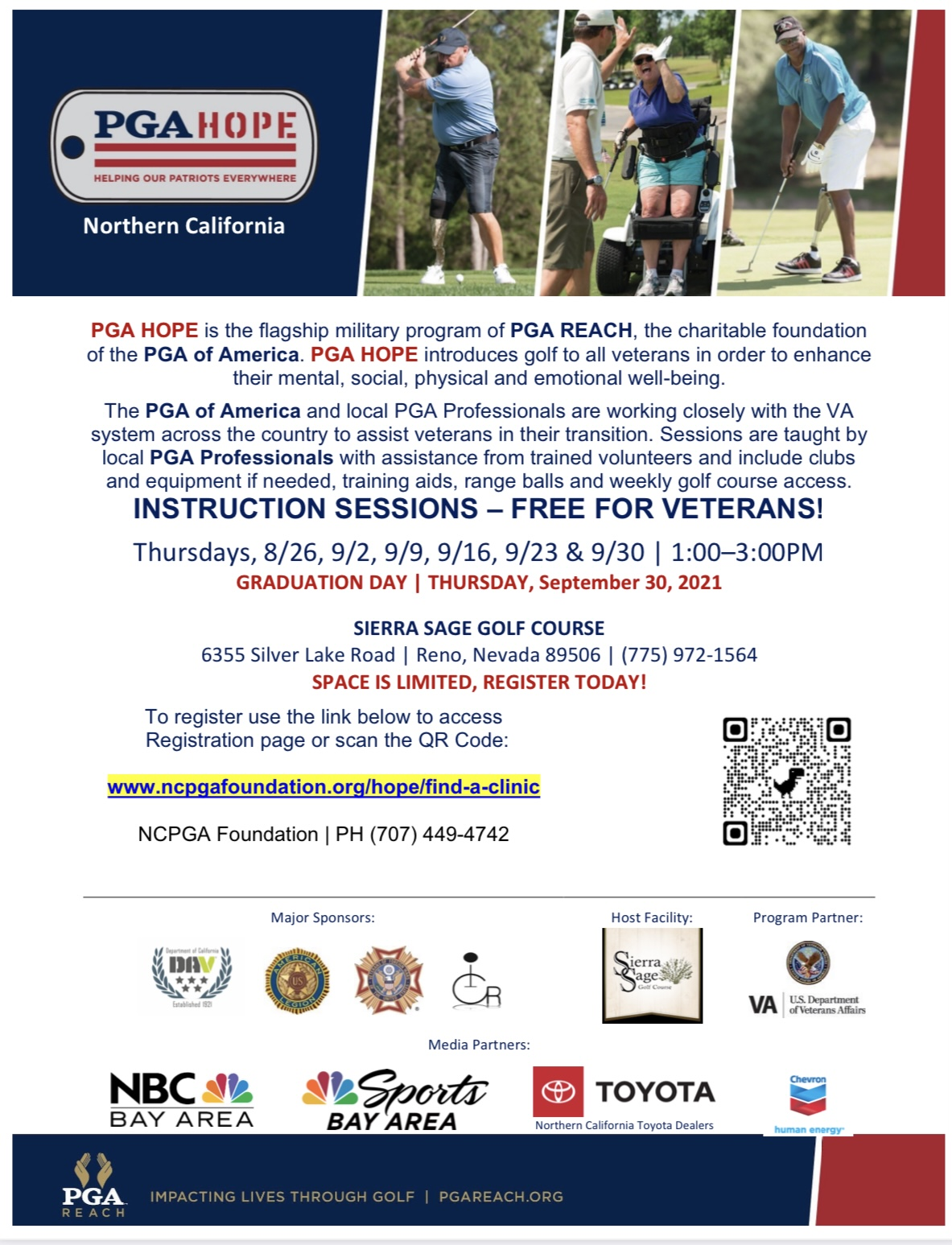 INSTRUCTION SESSIONS – FREE FOR VETERANS!
