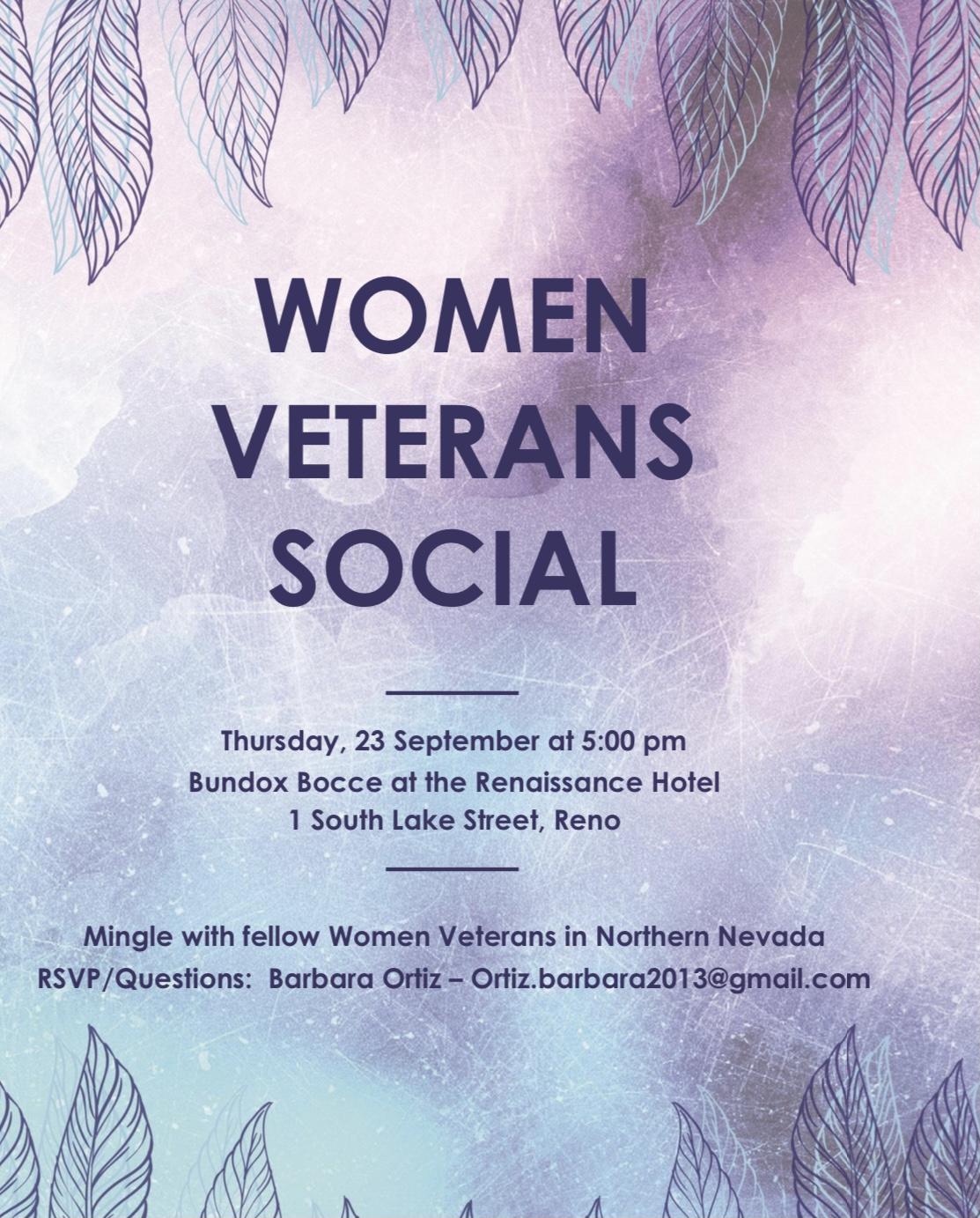 WOMEN VETERANS SOCIAL