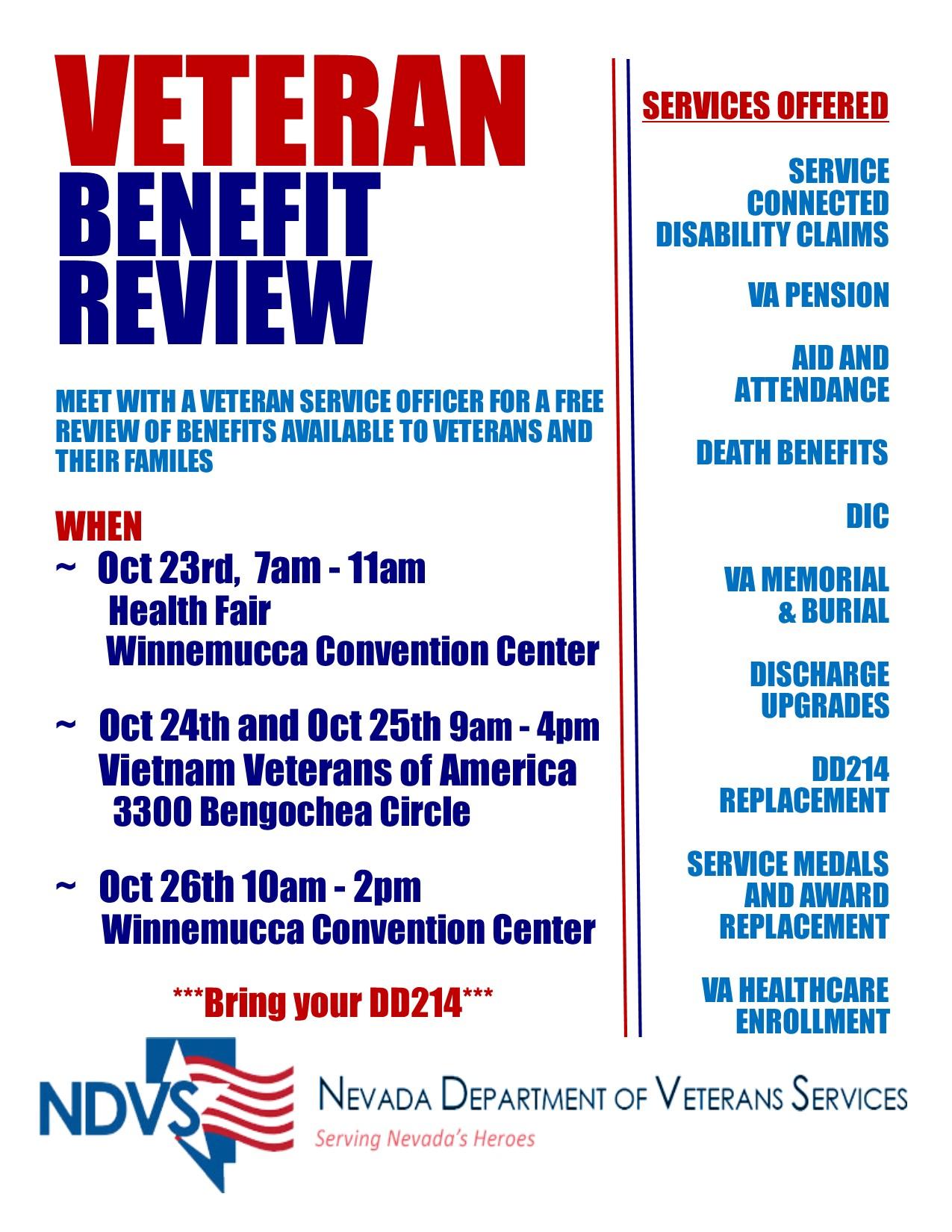 Veteran Benefit Review